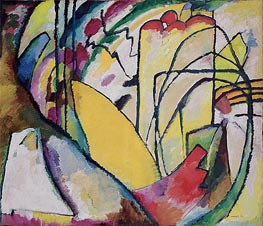 Improvisation 10, 1910 by Kandinsky | Painting Reproduction