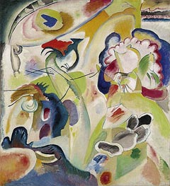 Improvisation No. 29 (The Swan), 1912 by Kandinsky | Painting Reproduction