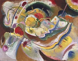 Little Painting with Yellow (Improvisation), 1914 by Kandinsky | Painting Reproduction