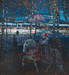 Riding Couple, 1907 by Kandinsky | Painting Reproduction