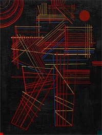 Colored Sticks, 1928 by Kandinsky | Painting Reproduction