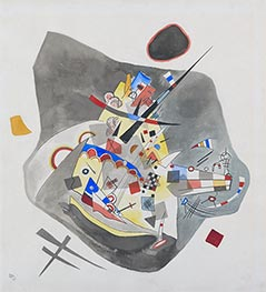 Gray Spot, 1922 by Kandinsky | Painting Reproduction