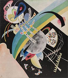 Circles on Black, 1921 by Kandinsky | Painting Reproduction