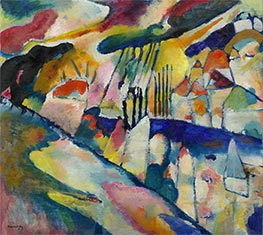Landscape with Rain, 1913 by Kandinsky | Painting Reproduction