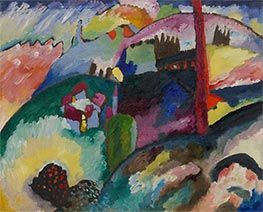 Landscape with Factory Chimney, 1910 by Kandinsky | Painting Reproduction