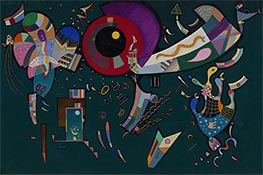 Around the Circle, 1940 by Kandinsky | Painting Reproduction