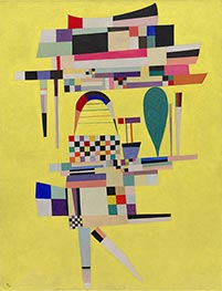 Yellow Painting, 1938 by Kandinsky | Painting Reproduction