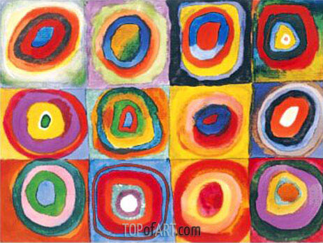 Concentric Circles, 1913 | Kandinsky | Painting Reproduction
