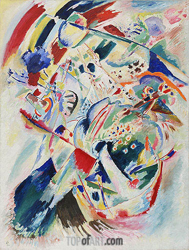 Panel for Edwin R. Campbell No. 4, 1914 | Kandinsky | Painting Reproduction
