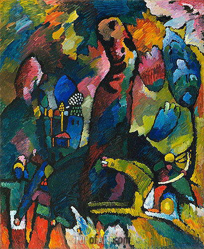 Picture with an Archer, 1909 | Kandinsky | Painting Reproduction