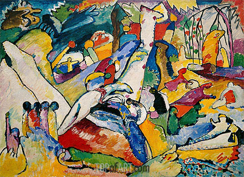 Sketch for 'Composition II', c.1909/10 | Kandinsky | Painting Reproduction