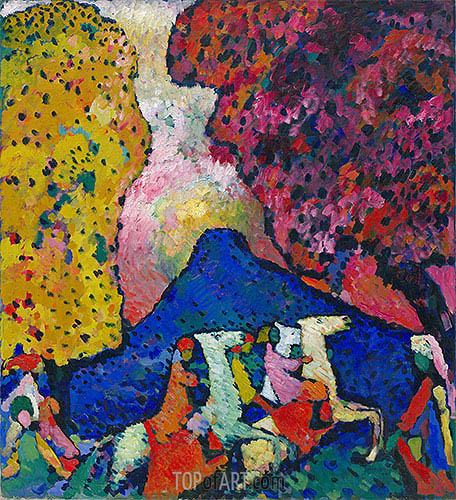 Blue Mountain, c.1908/09 | Kandinsky | Painting Reproduction