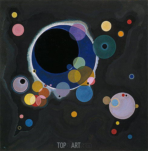 Several Circles, 1926 | Kandinsky | Painting Reproduction