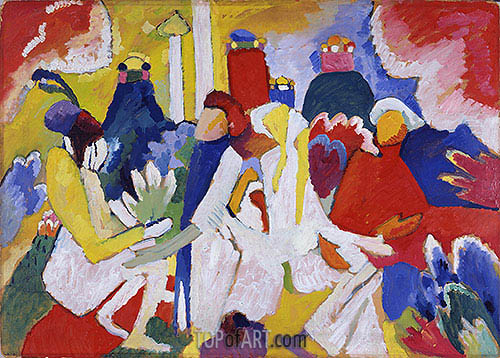 Oriental, 1909 | Kandinsky | Painting Reproduction