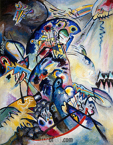 Blue Comb, 1917 | Kandinsky | Painting Reproduction