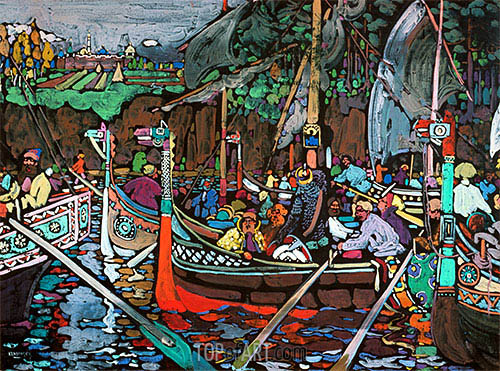 Song of the Volga, 1906 | Kandinsky | Painting Reproduction