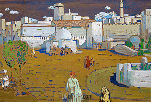 An Arab Town, 1905 | Kandinsky | Painting Reproduction