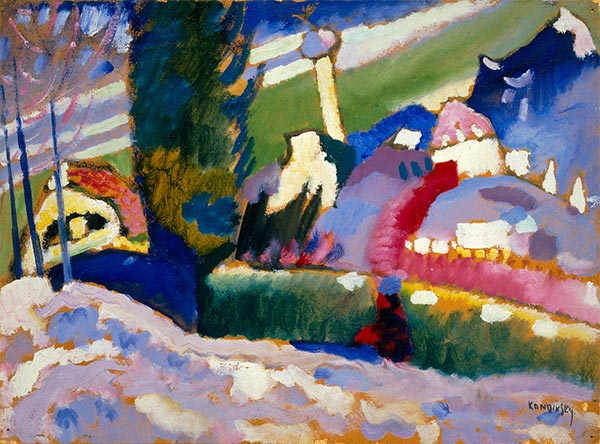 Winter Landscape with Church, c.1910/11 | Kandinsky | Painting Reproduction