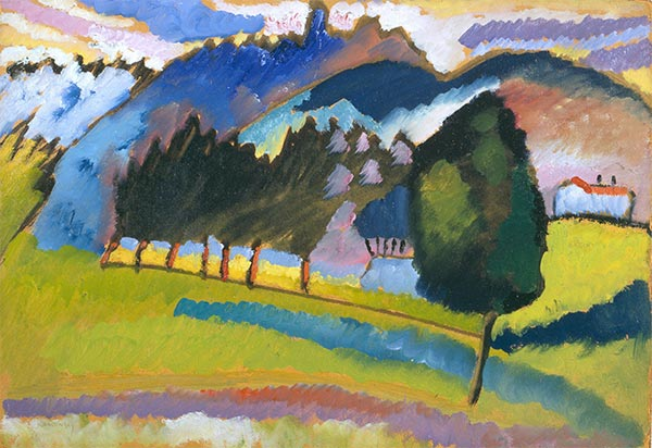 Landscape with Rolling Hills, c.1910 | Kandinsky | Painting Reproduction