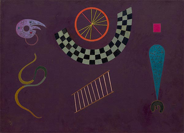 Ribbon with Squares, 1944 | Kandinsky | Painting Reproduction