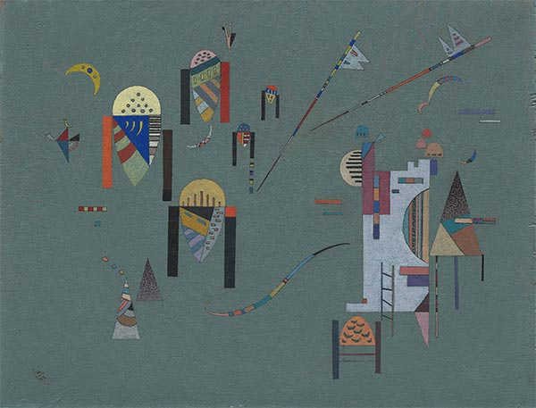 Vertical Accents, 1942 | Kandinsky | Painting Reproduction