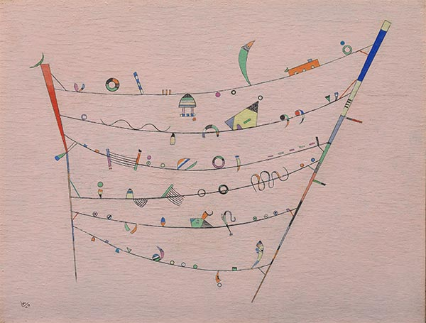 Little Accents, 1940 | Kandinsky | Painting Reproduction