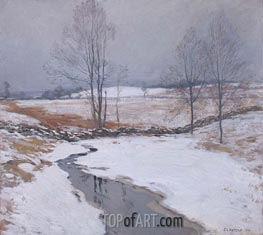 The First Snow | Willard Metcalf | Painting Reproduction