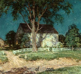 Old Homestead Connecticut | Willard Metcalf | Painting Reproduction