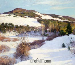 The Cornish Hills, 1911 by Willard Metcalf | Painting Reproduction