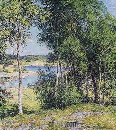 A Family of Birches | Willard Metcalf | Painting Reproduction