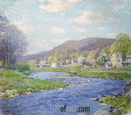 Brook in June, 1919 by Willard Metcalf | Painting Reproduction