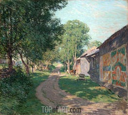 Midsummer Shadows, 1911 by Willard Metcalf | Painting Reproduction