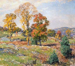 The Approaching Festival, 1922 by Willard Metcalf | Painting Reproduction