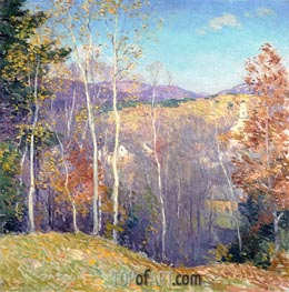 October Sunshine, 1923 by Willard Metcalf | Painting Reproduction
