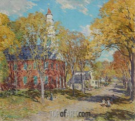 October Morning: Deerfield, Mass | Willard Metcalf | Painting Reproduction