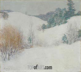 The White Pasture, 1917 by Willard Metcalf | Painting Reproduction