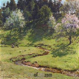 Blossom Time, 1910 by Willard Metcalf | Painting Reproduction