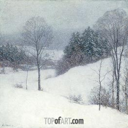 The White Veil, 1909 by Willard Metcalf | Painting Reproduction