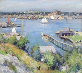 Gloucester Harbor, 1895 by Willard Metcalf | Painting Reproduction