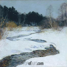Thawing Brook | Willard Metcalf | Painting Reproduction