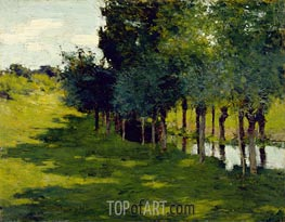 Sunlight and Shadow | Willard Metcalf | Painting Reproduction