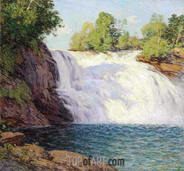 The Waterfall | Willard Metcalf | Painting Reproduction