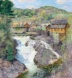 The Falls | Willard Metcalf | Painting Reproduction