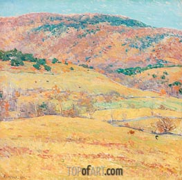 Mountain Pastures - Vermont | Willard Metcalf | Painting Reproduction