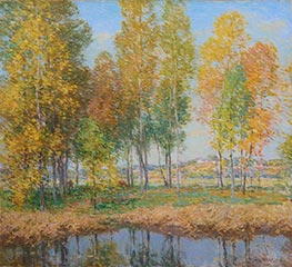 October Festival, 1914 by Willard Metcalf | Painting Reproduction