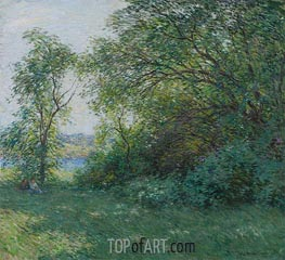 The Bower, 1907 by Willard Metcalf | Painting Reproduction