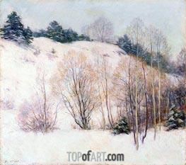 Willows in March, 1911 by Willard Metcalf | Painting Reproduction