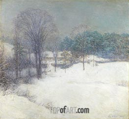 The Enveloping Mantle, 1920 by Willard Metcalf | Painting Reproduction