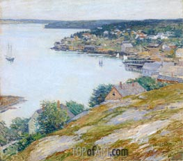 East Boothbay Harbor, Maine, 1904 by Willard Metcalf | Painting Reproduction