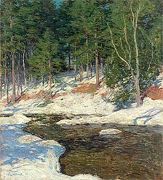Icebound | Willard Metcalf | Painting Reproduction